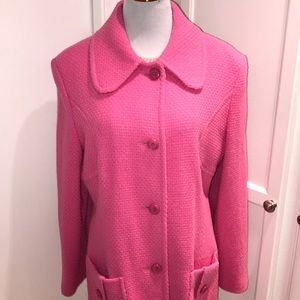 Marvin Richards pink wool pea coat